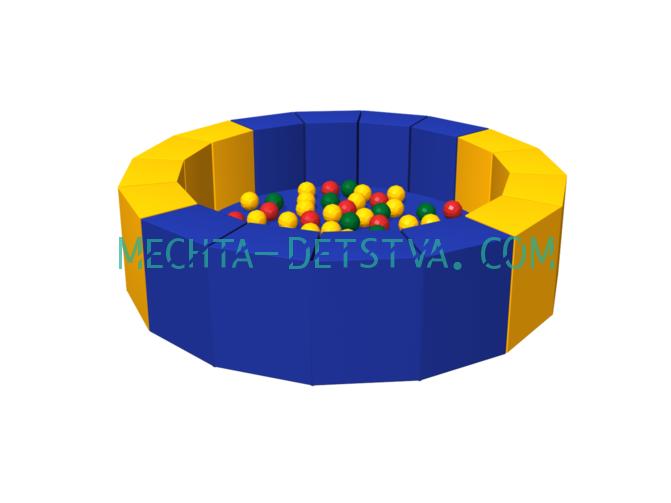 Сухой бассейн с шариками «16 граней» ДМФ-МК-14.19.01