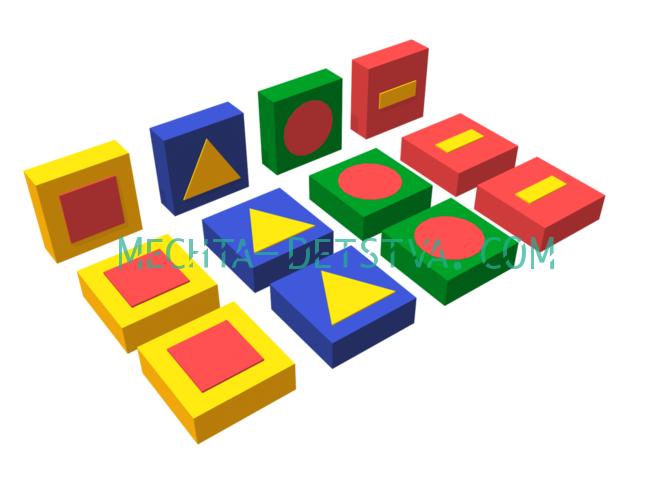 Развивающий мягкий модуль «Обучающие фигуры» ДМФ-МК-12.95.01