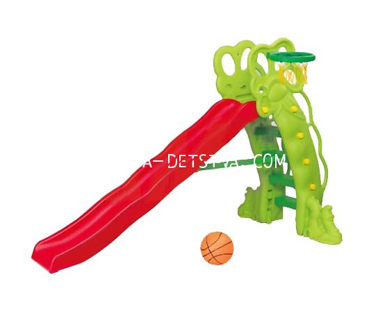 Детская горка «Горошина» + баскетбольное кольцо SL-16